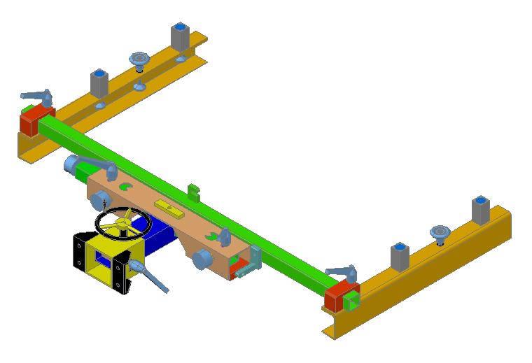 Planos de Brazo serigrafico 3d, en Maquinaria – proyectos varios – Máquinas instalaciones