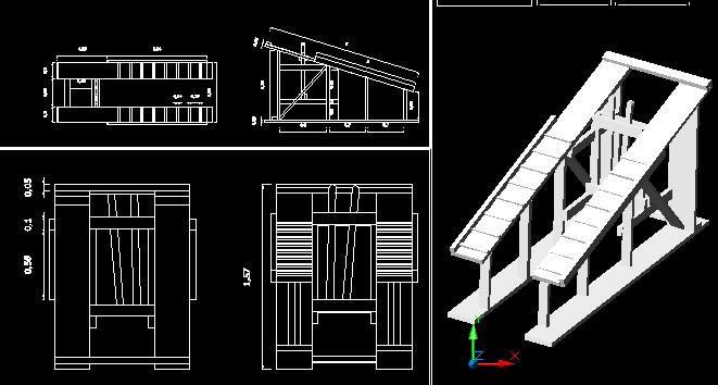 Planos de Brete de monta, en Construcciones especiales – Granjas e inst. agropecuarias