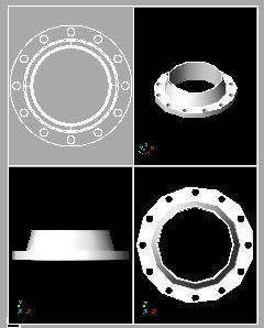 Planos de Brida 10 de diametro 3d, en Válvulas tubos y piezas – Máquinas instalaciones