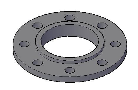 imagen Brida 3 pulgadas 3d, en Válvulas tubos y piezas - Máquinas instalaciones