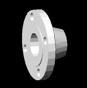 Planos de Brida welding neck diametro 2-150 libras 3d, en Válvulas tubos y piezas – Máquinas instalaciones