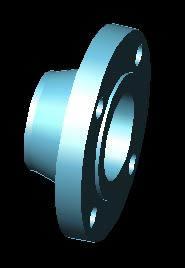 Planos de Brida welding neck diametro 3-150 libras 3d, en Válvulas tubos y piezas – Máquinas instalaciones