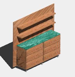 Planos de Bufetera 3d, en Estanterías y modulares – Muebles equipamiento