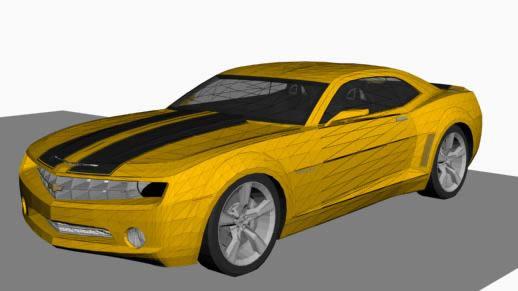 Bumbulbee  – automovilo 3d, en Automóviles en 3d – Medios de transporte