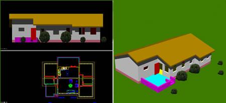 Planos de Bungalow_3d, en Vivienda unifamiliar 3d – Proyectos