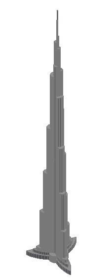 Planos de Burj dubai, en Obras famosas – Proyectos