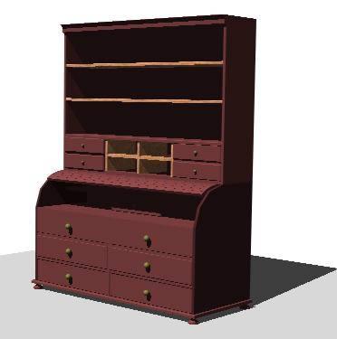 Planos de Buro madera 3d, en Estanterías y modulares – Muebles equipamiento