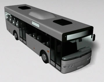Bus 3d, en Automóviles en 3d – Medios de transporte