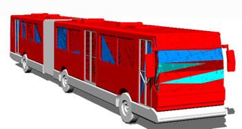 imagen Bus articulado transilenio bogota, en Autobuses - Medios de transporte