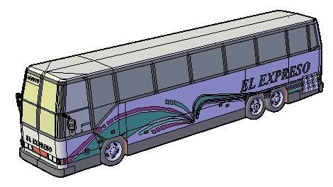 imagen Bus pasajeros prevost  1995, en Autobuses - Medios de transporte