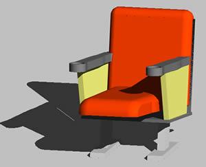 Planos de Butaca – cadeira de cinema 3d, en Sillas 3d – Muebles equipamiento