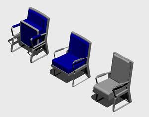 Planos de Butaca de salon de actos 3d, en Cines y auditorios – Muebles equipamiento