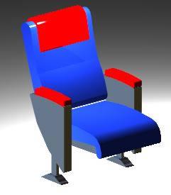 Planos de Butaca para salas y auditorios, en Cines y auditorios – Muebles equipamiento