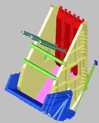 Planos de Buzon primario de descarga, en Industria minera – Máquinas instalaciones