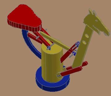 Planos de Caballito 3d render., en Jardín de infantes – Muebles equipamiento