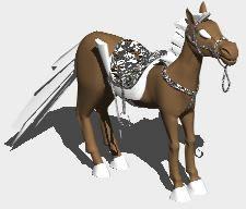 Planos de Caballo con montura 3d, en Animales 3d – Animales