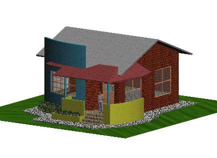 Cabaña 3d, en Vivienda unifamiliar 3d – Proyectos
