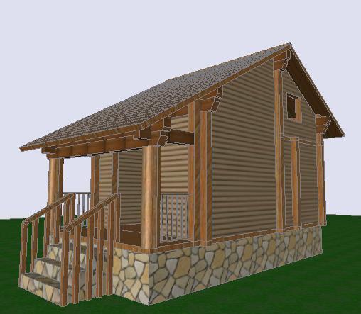 Planos de Cabana 3d, en Vivienda unifamiliar 3d – Proyectos
