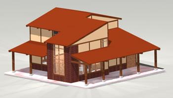 Planos de Cabaña 3d, en Vivienda unifamiliar 3d – Proyectos