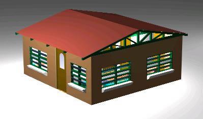 Planos de Cabaña 3d, en Vivienda unifamiliar – Proyectos
