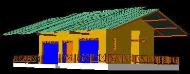 Planos de Cabaña en buenaventura-colombia, en Vivienda unifamiliar 3d – Proyectos