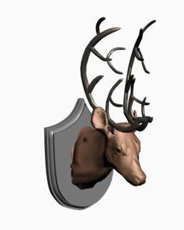 imagen Cabeza venado 3d, en Animales 3d - Animales