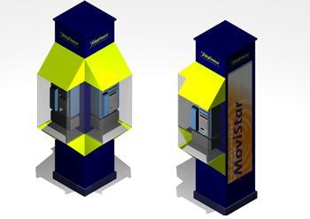 Planos de Cabina de telefonia pública, en Cabinas de telefonía publica – Equipamiento urbano
