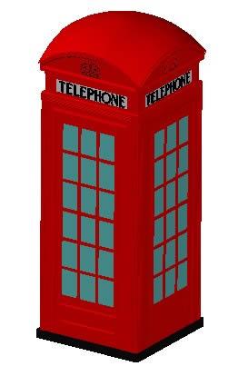 Planos de Cabina telefonica red london 3d, en Cabinas de telefonía publica – Equipamiento urbano