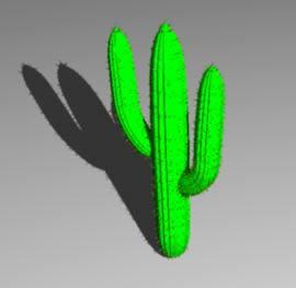 Planos de Cactus 3d, en Arbustos en 3d – Arboles y plantas