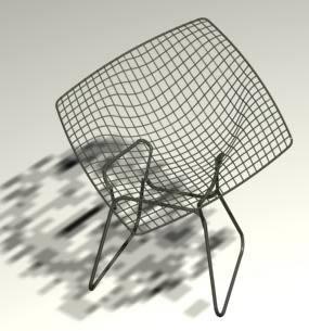 Cadeira bertoia alta 3d, en Sillas 3d – Muebles equipamiento