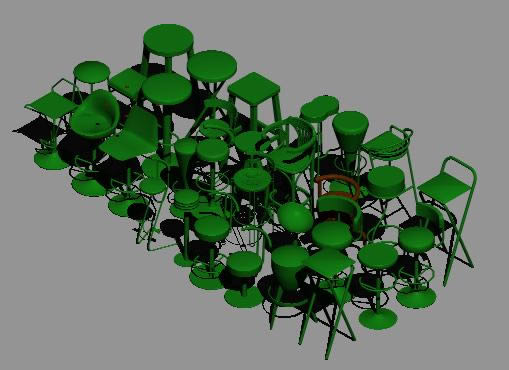 Planos de Cadeiras – sillas 3d, en Sillas 3d – Muebles equipamiento