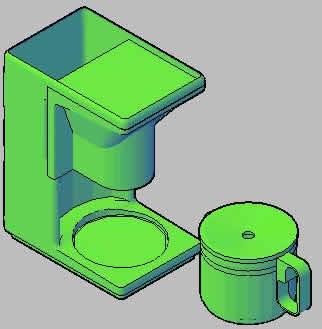 Planos de Cafetera 3d, en Electrodomésticos – Muebles equipamiento