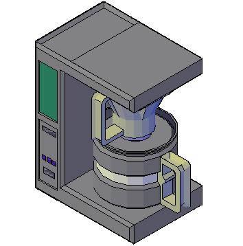 imagen Cafetera electrica 3d, en Electrodomésticos - Muebles equipamiento