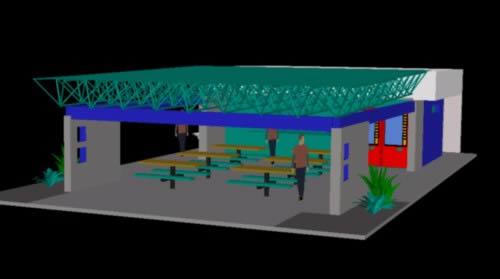 Planos de Cafeteria 3d, en Comedores – Proyectos