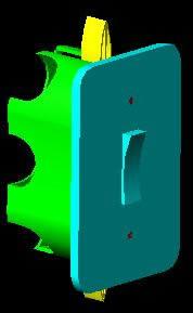 Planos de Caixa de interruptor 3d – interruptor, en Electricidad – Instalaciones