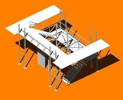 Caja de circulacion 3d, en Sistemas de elevación – Instalaciones