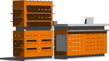 imagen Caja de supermercad, en Supermercados y tiendas - Muebles equipamiento