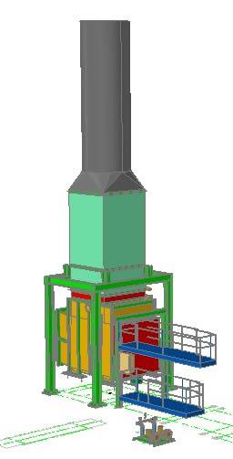 Planos de Caldera de turbina 3d, en Industria petrolera – Máquinas instalaciones