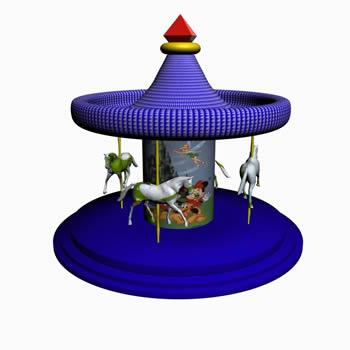 Calesita – juego de feria 3d, en Juegos infantiles – Equipamiento urbano