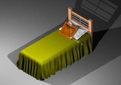 Planos de Cama 1 plaza 3d, en Dormitorios – Muebles equipamiento