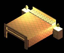 Planos de Cama 3d, en Dormitorios – Muebles equipamiento