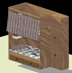 Planos de Cama 3d, en Muebles varios – Muebles equipamiento