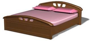Cama baja doble 3d, en Dormitorios – Muebles equipamiento