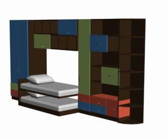 imagen Cama cucheta 3d, en Dormitorios - Muebles equipamiento