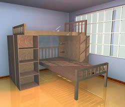 Cama cucheta – literas, en Dormitorios – Muebles equipamiento