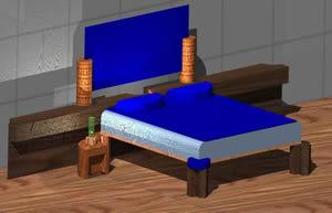 Cama de dos plazas, en Dormitorios – Muebles equipamiento