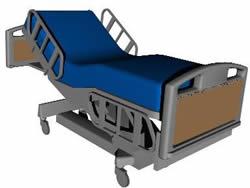 Planos de Cama de hospital, en Equipamiento – Hospitales