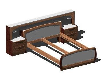 Planos de Cama doble 3d, en Dormitorios – Muebles equipamiento