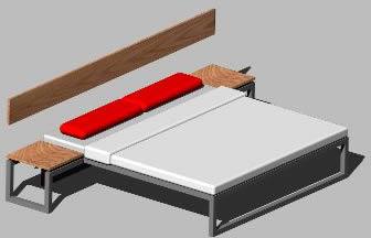 imagen Cama dos plazas 3d  2x1, en Dormitorios - Muebles equipamiento