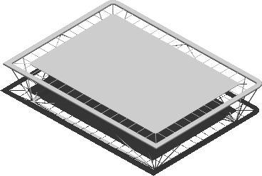 Planos de Cama elástica 3d, en Equipamiento gimnasios – Deportes y recreación